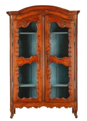 French Provincial Walnut Two Door Armoire 18th C