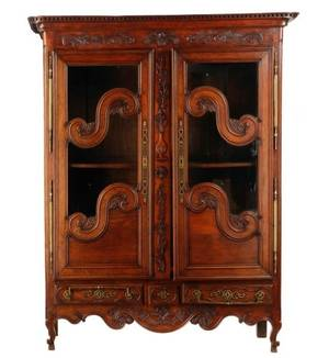French Stained Oak Two Door Armoire 19th C