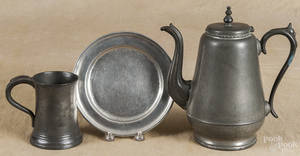 American pewter coffee pot