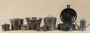Group of early American tin