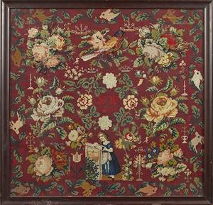 Victorian wool needlework