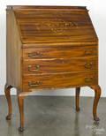 French inlaid mahogany ladys writing desk