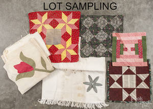 Group of patchwork quilt patches