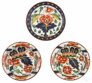 Two Gaudy Dutch war bonnet cup plates