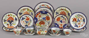Collection of Gaudy Dutch porcelain 19th c