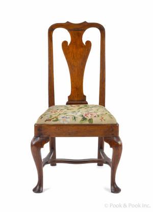 Philadelphia Queen Anne walnut dining chair ca 1760