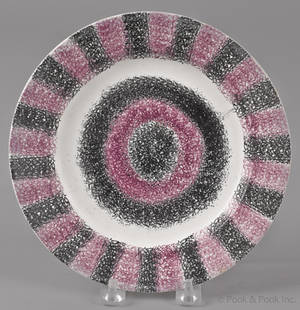 Purple and black rainbow spatter plate