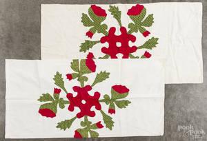 Pair of Pennsylvania appliqu pillow covers