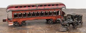 Cast iron floor train car