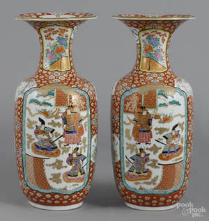 Pair of Japanese porcelain vases late 19th c