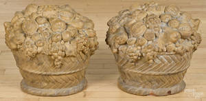 Pair of terra cotta fruit baskets early 20th c