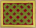 Pennsylvania pieced diamond pattern quilt ca 1900