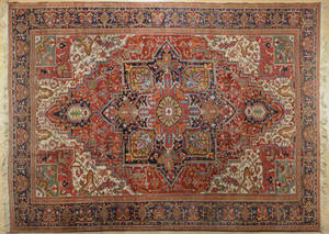 Semiantique Heriz carpet ca 1950