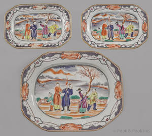 Chinese export porcelain platter early 19th c