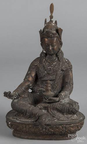Asian bronze figure of Buddha
