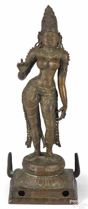 Southeastern Asian bronze figure of Uma