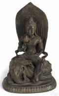 Southeastern Asian bronze figure of Buddha