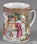 Chinese export porcelain mandarin palette mug early 19th c