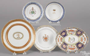 Five Chinese export porcelain wares