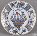 Chinese Imari porcelain plate 18th c