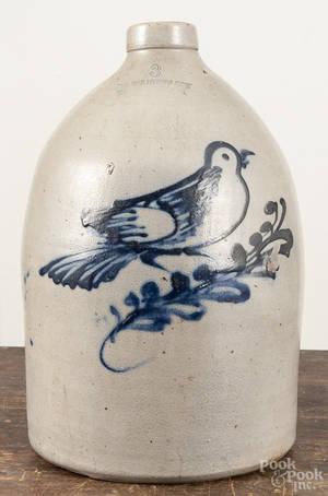 Massachusetts threegallon stoneware jug