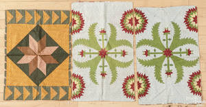 Pair of Pennsylvania pieced pillow covers 19th c