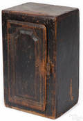 Pennsylvania painted pine hanging cupboard 19th c