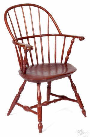 Pennsylvania sackback Windsor armchair ca 1790
