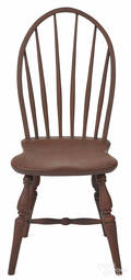 Painted hoopback Windsor chair