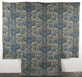 Blue printed floral quilt