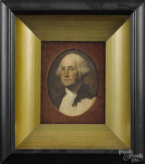 Miniature portraits of George and Martha Washington
