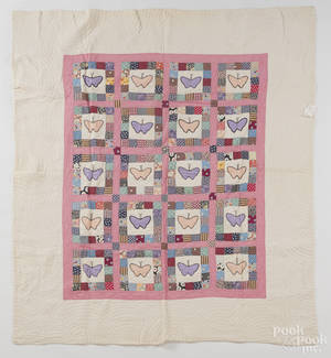 Two Pennsylvania pieced and appliqu quilts