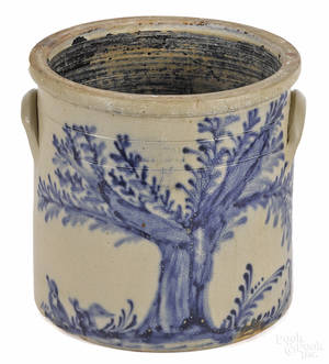 New York stoneware crock 19th c