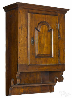 Chester County Pennsylvania walnut hanging cupboard ca 1780