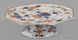 Chinese export porcelain Imari palette tazza 18th c
