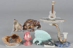Group of decorative stone items