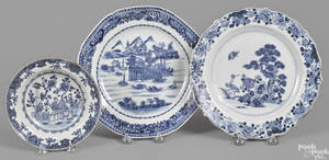 Chinese export porcelain plate late 18th c