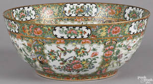 Chinese export porcelain rose medallion bowl 19th c
