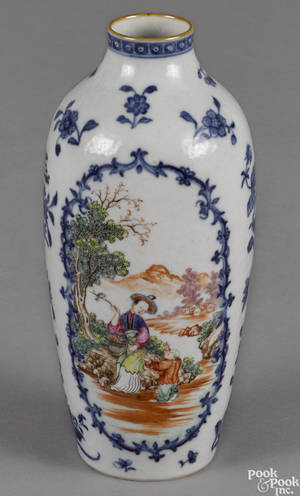 Chinese export famille rose porcelain vase 19th c