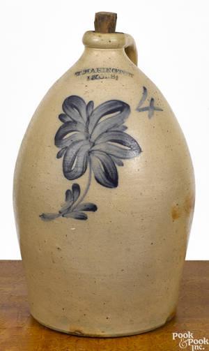 New York stoneware jug 19th c