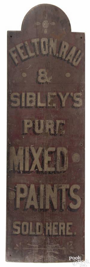 Philadelphia painted pine trade sign ca 1880