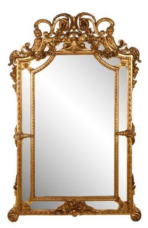 Continental Carved Giltwood Pier Mirror 19th C