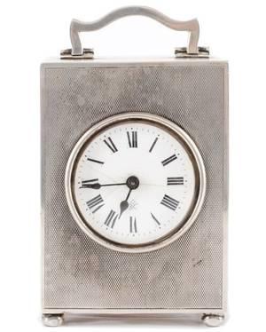 Elkington  Co Sterling Carriage Clock c1920