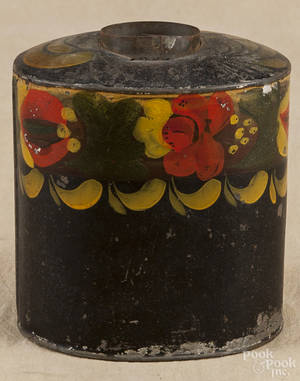 Pennsylvania painted toleware tea caddy