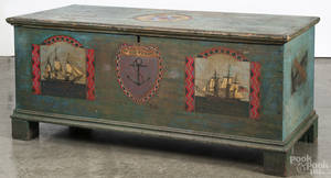 Painted pine blanket chest