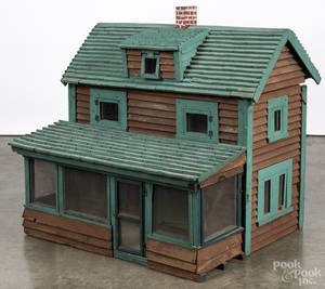 Large painted doll house