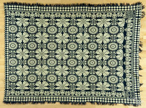 Bucks County Pennsylvania jacquard coverlet
