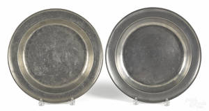 Two pewter deep dishes late 18th c