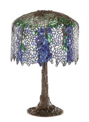 American Leaded Glass Wisteria Lamp
