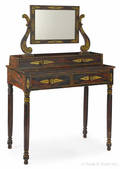 New England classical painted twopart dresser ca 1830